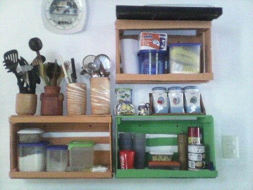 Cocina con guacales Mis Muebles en Palets Pinterest Colombia