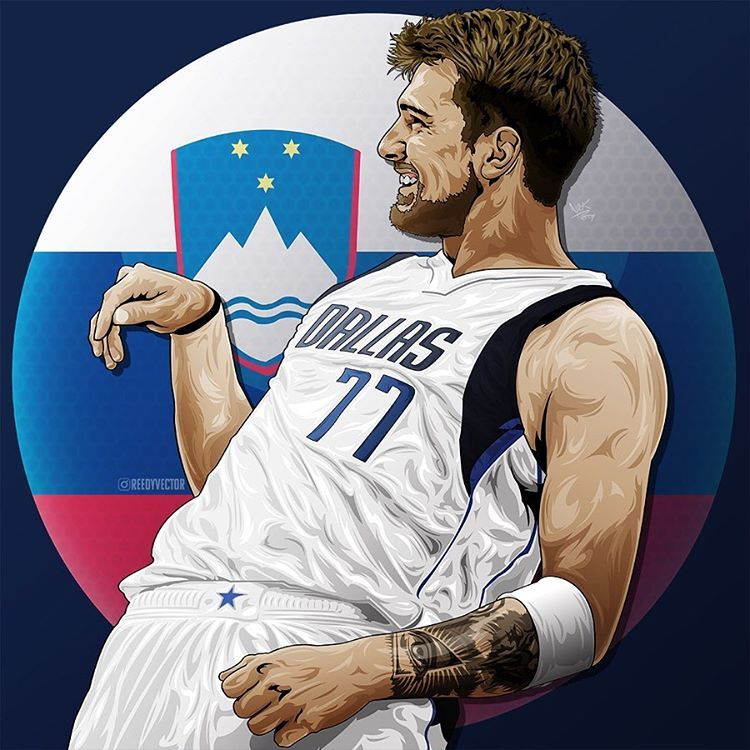 Instagram 上的 Digital Artist L U K A Lukadoncic X Reedyvector Nba Rookie Of The Year 201 Nba Basketball Art Lakers Team Dallas Mavericks Basketball
