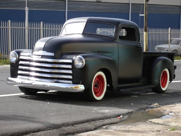 1950 Chevy Flat Black Voom Voom Camioneta Pick Up Coches Autos