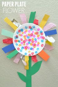 Photo of Paper Plate Flower Fine Motor Craft