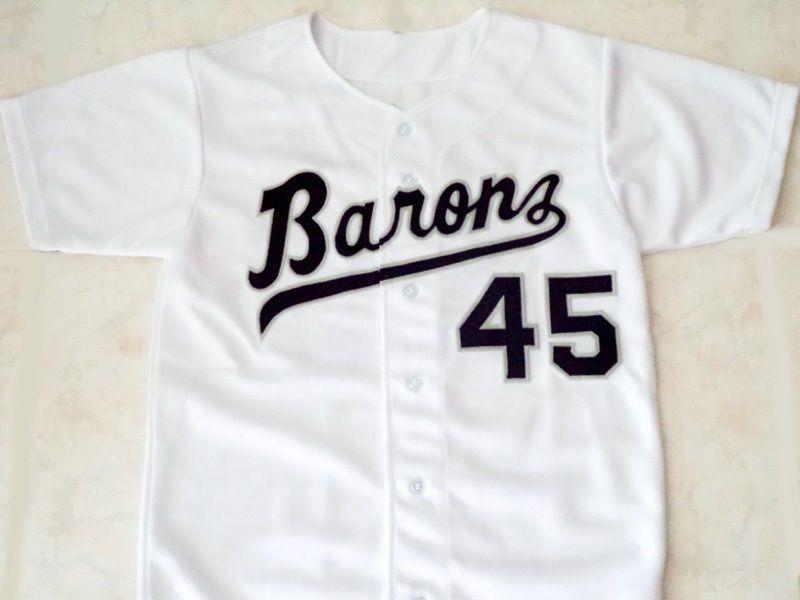 f9fb11db94ac ... Michael jordan 45 birmingham barons button down baseball jersey white  -any size ...