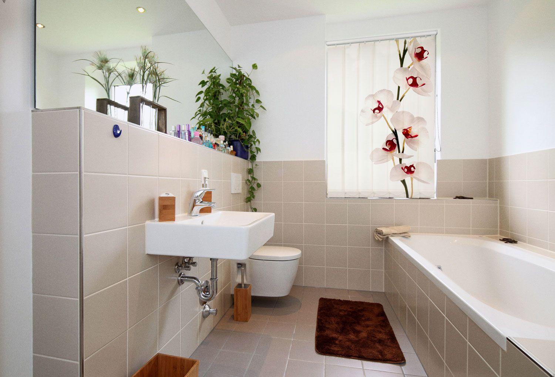 Foto Lamellen Mit Wellness Motiven Eignen Sich Hervorragend Für Den Badbereich Gardinen Modern Bad Gardinen Gardinen