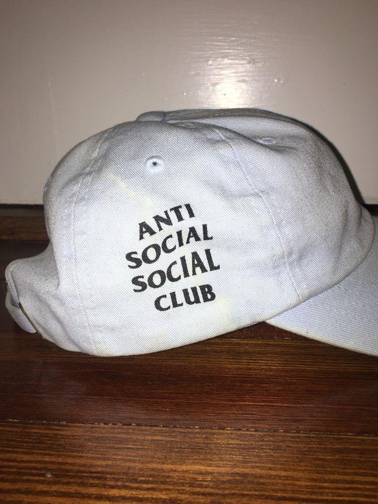 5548f0597181 Authentic Anti Social Social Club Baby Blue Cap