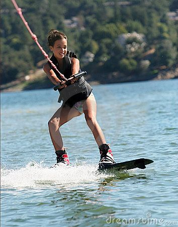 Finally get up on a wakeboard - all I want to do is get up!!