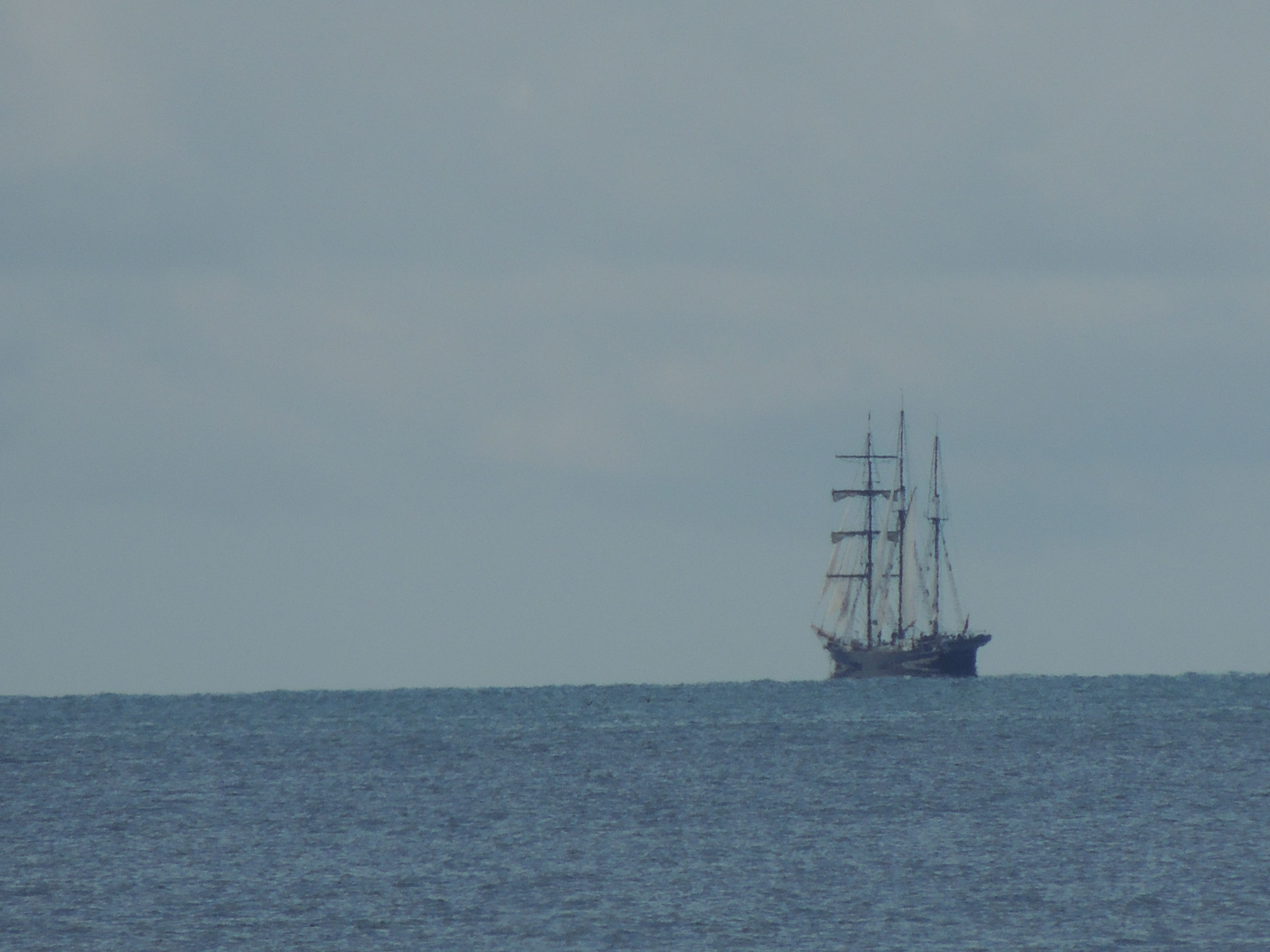 Sailing ship out on the harbour Taken from Wenderholm