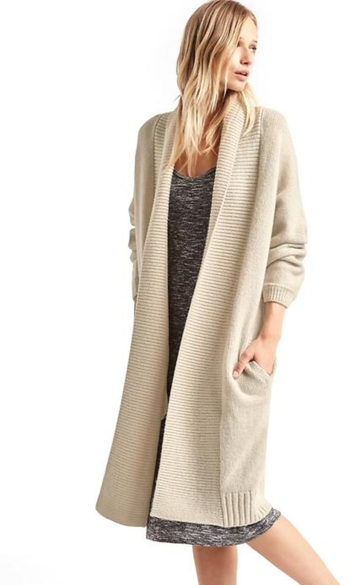 Gap Women Long Shawl Collar Cardigan - Sand | Gap women, Shawl and ...