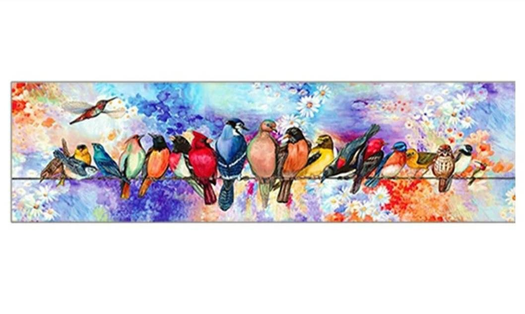 5d Diamond Painting Kit Birds On A Wire Full Square Drill Diamond Painting Cartoon Birds Paint Kit