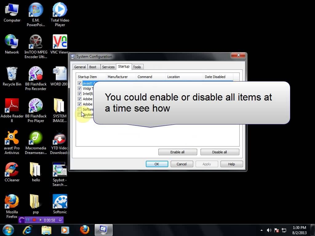 This Video Will Show The Steps To Disable Start Up Programs In Your Pc Start Up Speed Up Computer Web Design Services