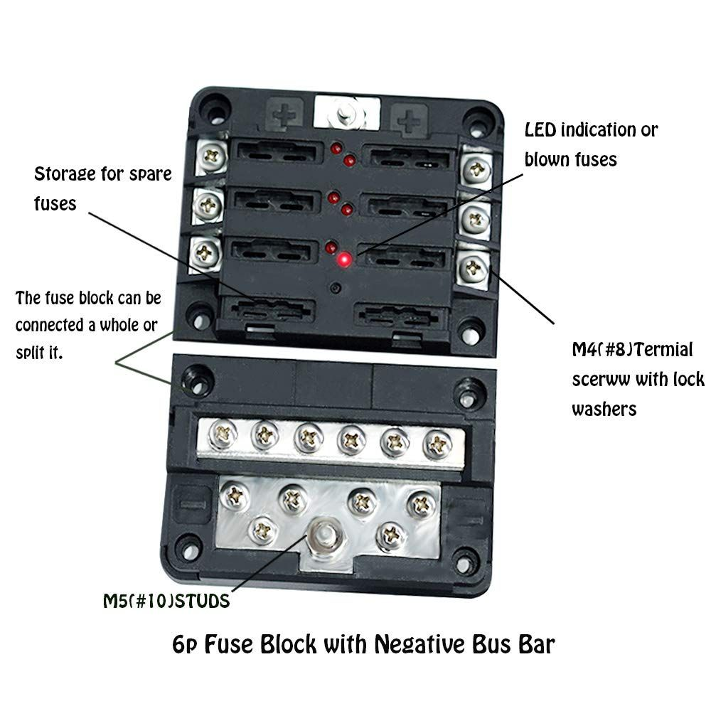 Prime Blade Fuse Block Box Holder 6 Circuits Atp And Negative Bus Bar With Wiring 101 Akebretraxxcnl