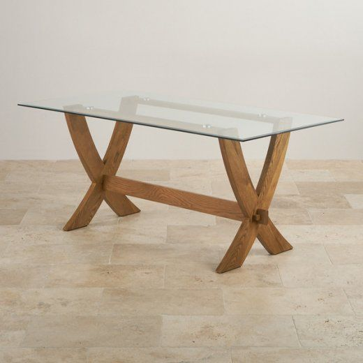 Glass Top Dining Tables Oak Furniture Land Santhosha Bhavan In