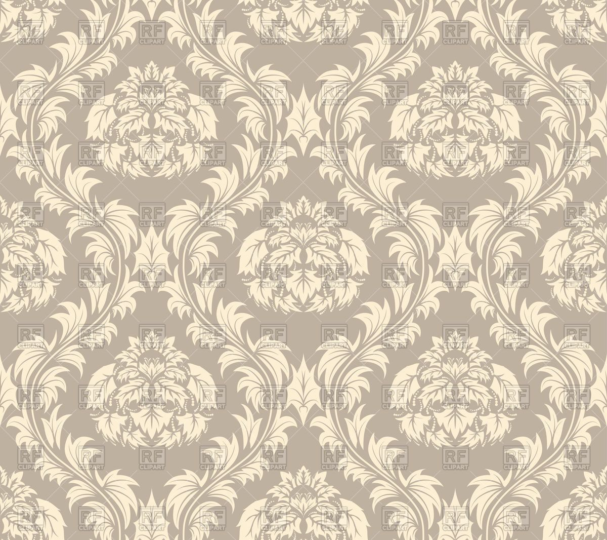 Seamless antique pattern - brown victorian style wallpaper ...