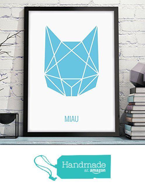 Owlbook Abstrakte Katze Hochwertiger Kunstdruck Mit Katze