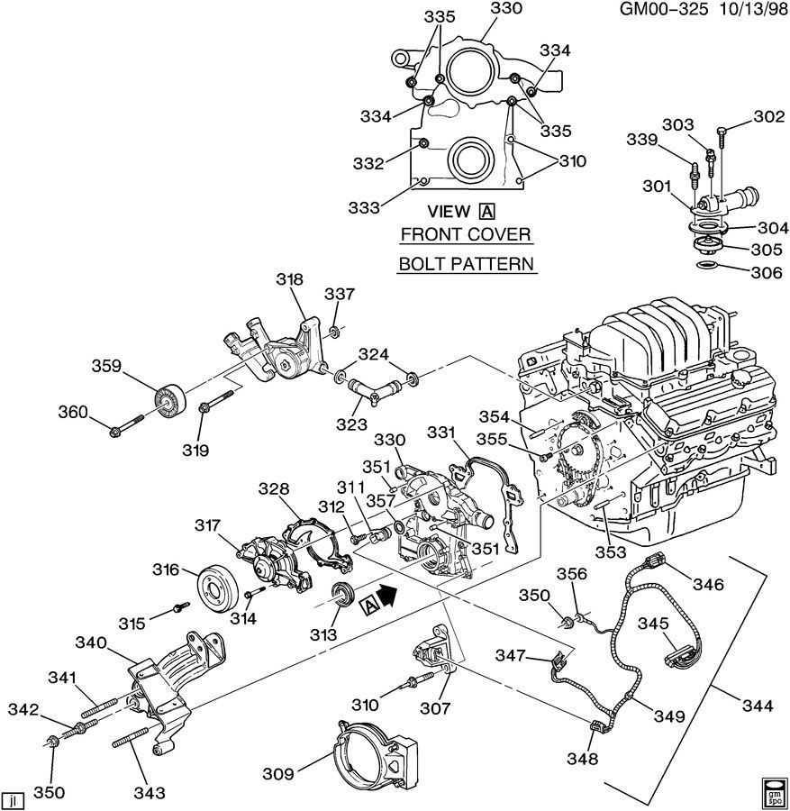 2003 Pontiac Grand Prix Engine Diagram Wiring Library 2007 Coolant System Asm 38l V6 Part 3