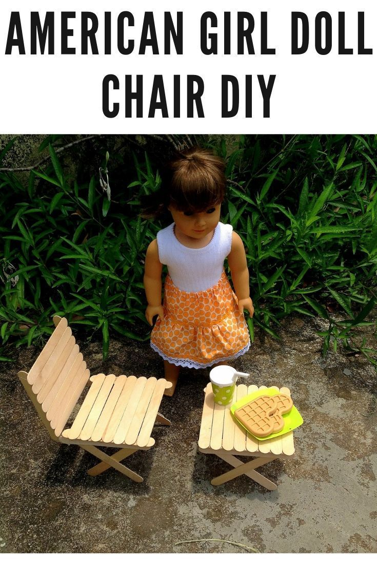 American Girl Doll Chair DIY - Sew Crafty Me Easy Doll Chair Tutorial #dollfurniture