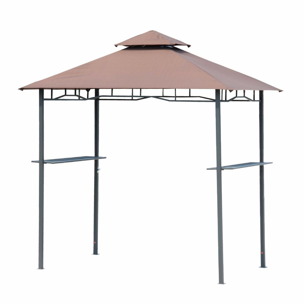 Outsunny Outdoor 8ft Double-tier BBQ Grill Shelter Patio Deck Cover Canopy Tent  sc 1 st  Pinterest & Outsunny Outdoor 8ft Double-tier BBQ Grill Shelter Patio Deck ...
