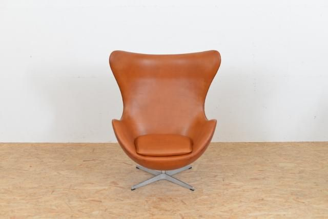 Miraculous Mid Century Leather Egg Chair By Arne Jacobsen For Fritz Ibusinesslaw Wood Chair Design Ideas Ibusinesslaworg
