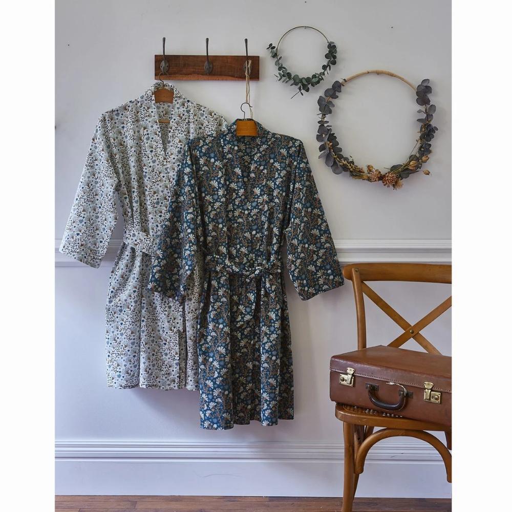 Peignoir Kimono Pur Voile De Coton Kalyan En 2020 Voile De