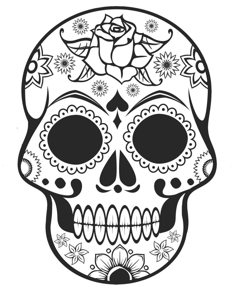 Coloring Pages Free Printable Sugar Skull Coloring Page Sugar