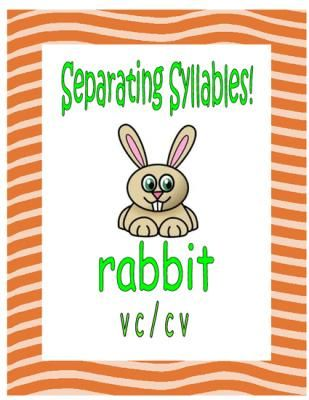 Separating Syllables! VC/CV Words from Essential Reading Skills on