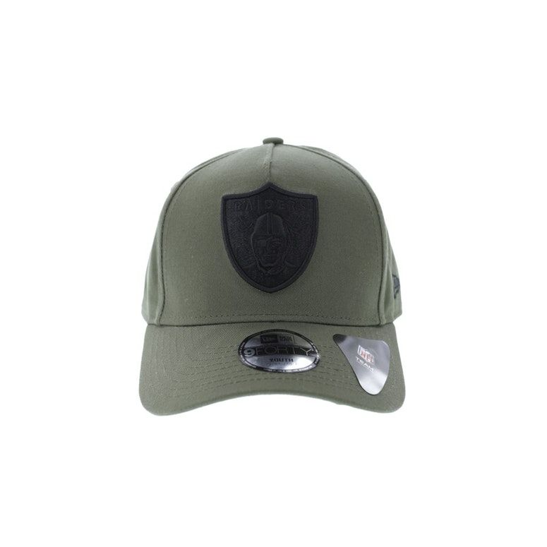 b459894d New Era Youth Oakland Raiders 9FORTY A-Frame Snapback Olive | Baby ...