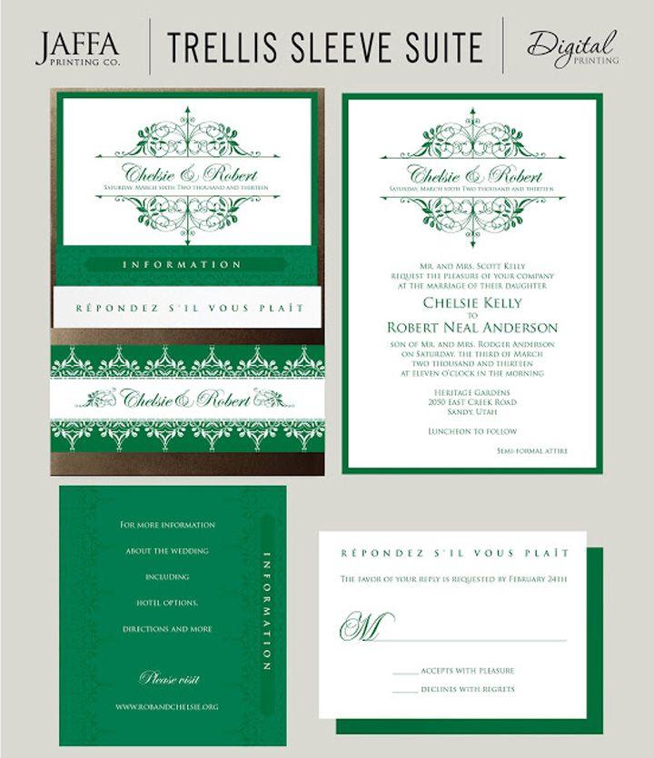 Jaffa Printing, wedding invitations | BrideAccess | Emerald Green ...