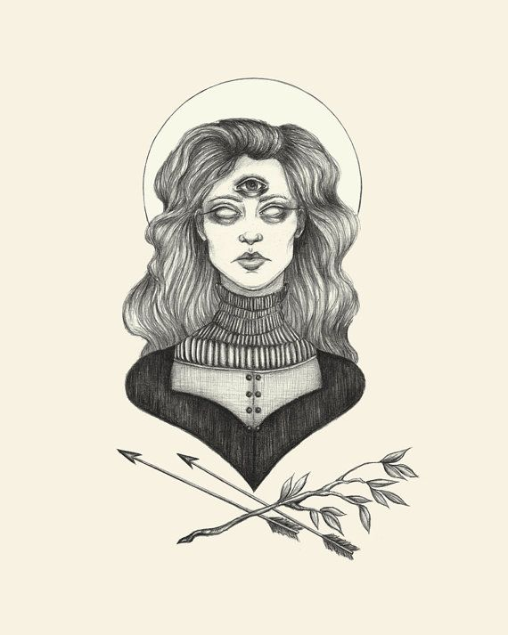 The Oracle Print 5x7 by CaitlinMcCarthyArt on Etsy, $8.00