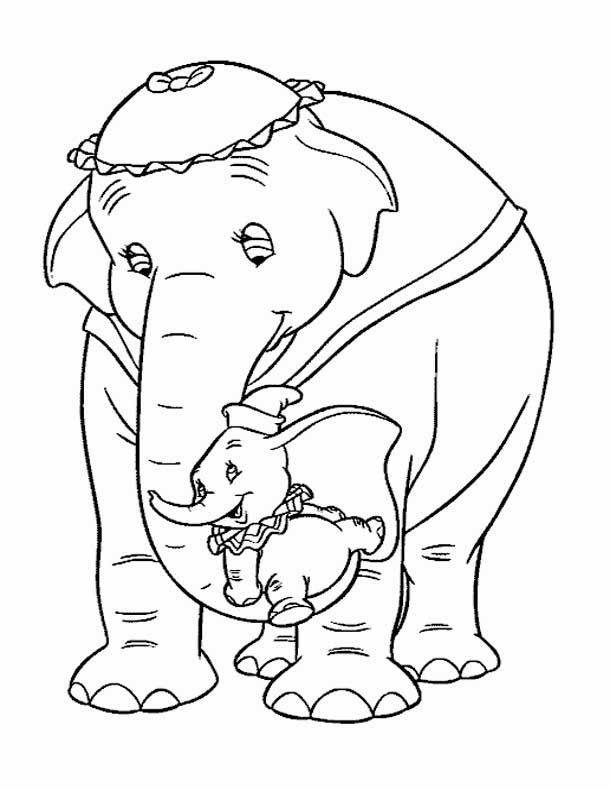 Elephant Coloring Pages Disney Coloring Pages Elephant Coloring