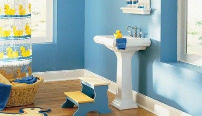 Cómo decorar un cuarto de baño infantil   Creativo   Color ...
