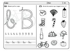 Fichas Infantiles Para Aprender A Leer Y Aprender A Escribir Con La