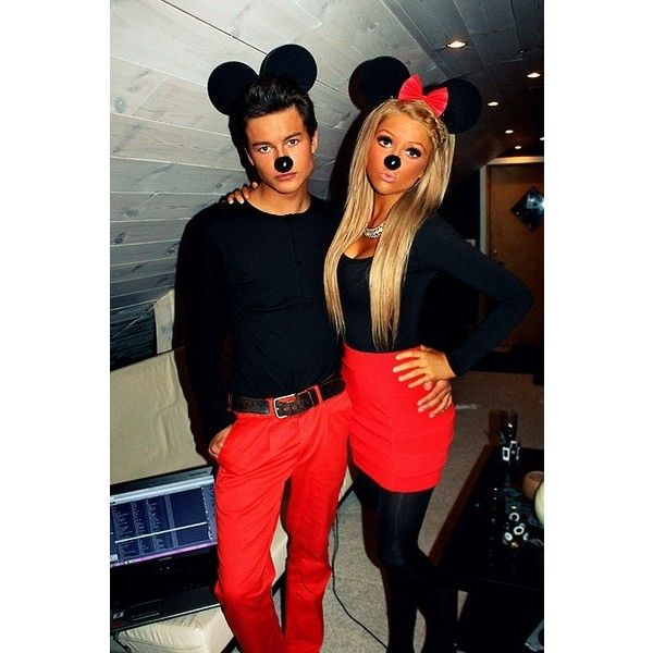mickey and minnie mouse couples costume found on polyvore featuring polyvore women 39 s fashion. Black Bedroom Furniture Sets. Home Design Ideas