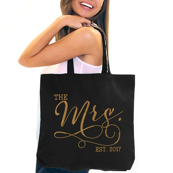 Bride Tote Mrs Tote Bag Jumbo Bride 39 S Tote Bridal Shower Gift Bachelorette Party Engagement Carryall Gol Bride Tote Bridal Tote Bag Bride Tote Bag