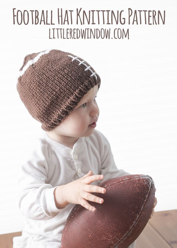 Fun Football Hat Knitting Pattern | Pinterest