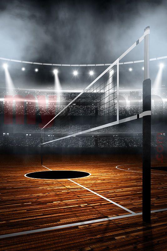 Digital background - volleyball stadium | Volleyball and ...