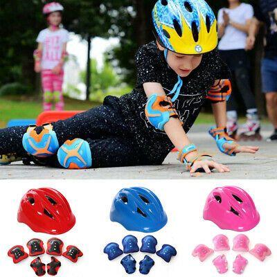 USA Boys Girls Kids Safety Helmet /& Knee /& Elbow Pad Set For Cycling Skate Bike