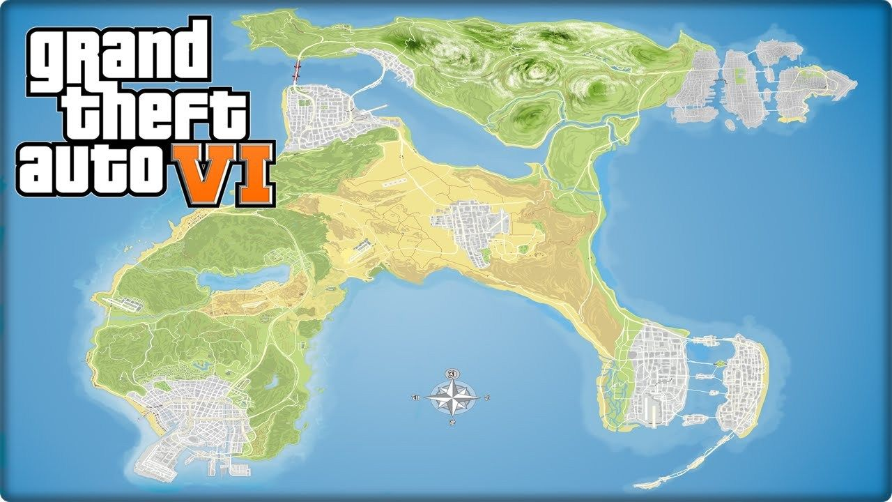 Gta San Andreas Karte.Gta 6 Map Fan Made Release Date In 2019 Grand Theft Auto Pop