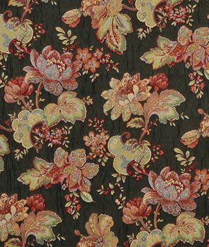 Swavelle / Mill Creek All Dolled Up Black Fabric - $9.95 | onlinefabricstore.net