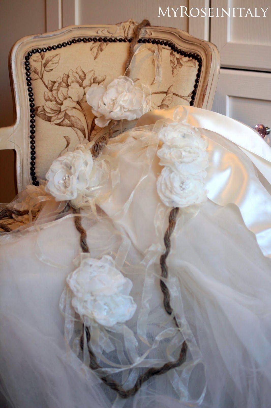 Shabby Chic Fiori Matrimonio.Matrimonio Handmade Ghirlanda Di Fiori Di Stoffa Flowers
