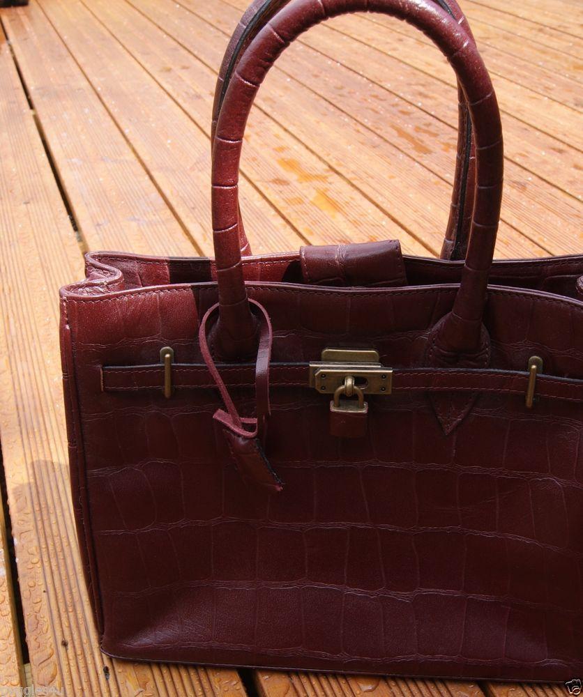 Joshua Taylor Real Leather Burgundy Handbag Medium Matching Purse