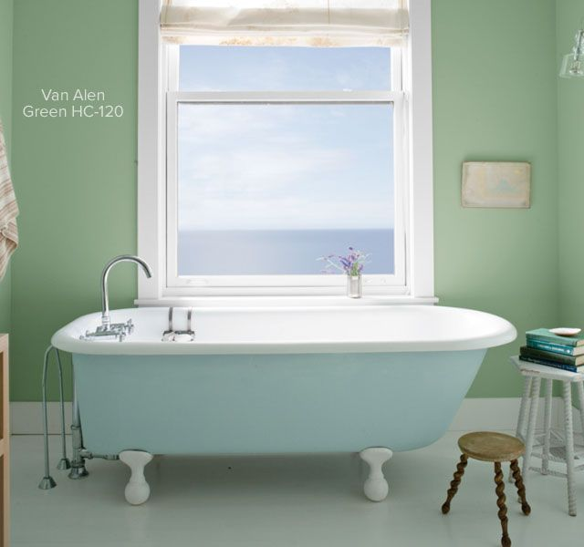 Bathroom Ideas & Inspiration | Light green bathrooms, Tubs and Lights