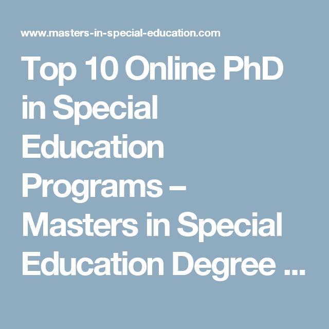 special ed masters program