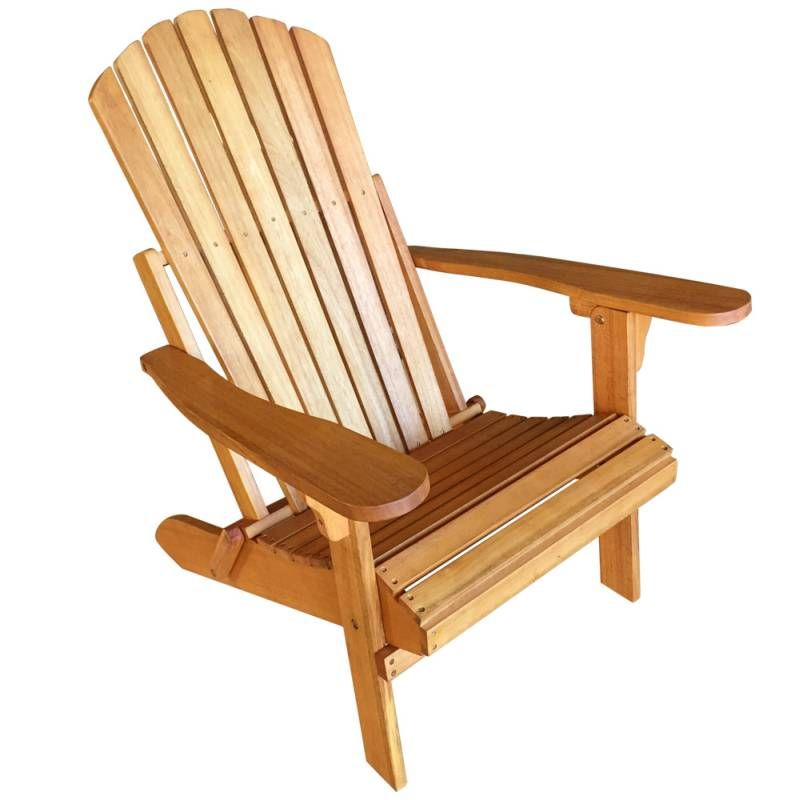 Eucalyptus Wooden Adirondack Sun Lounge Chair Outdoor Chairs