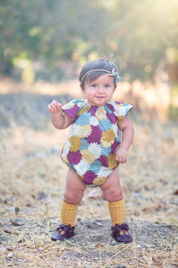 aeefe4e50a51 Fall Bubble Romper, Baby Girl Romper, Fall Romper, Toddler Girl Romper, Bubble  Romper, Baby Girl Gi