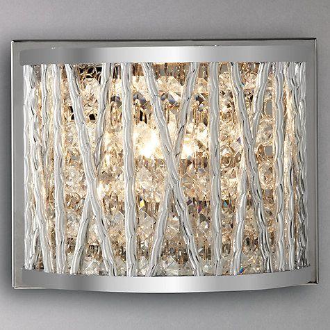 John Lewis Wall Light Fittings: Buy John Lewis Emilia Crystal Drum Wall Light Online at johnlewis.com,Lighting