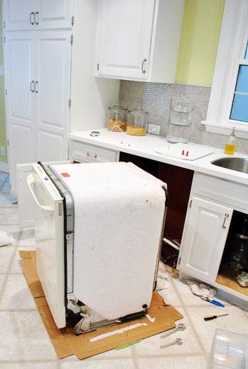 How To Install A Dishwasher Dishwasher Installation Kitchen