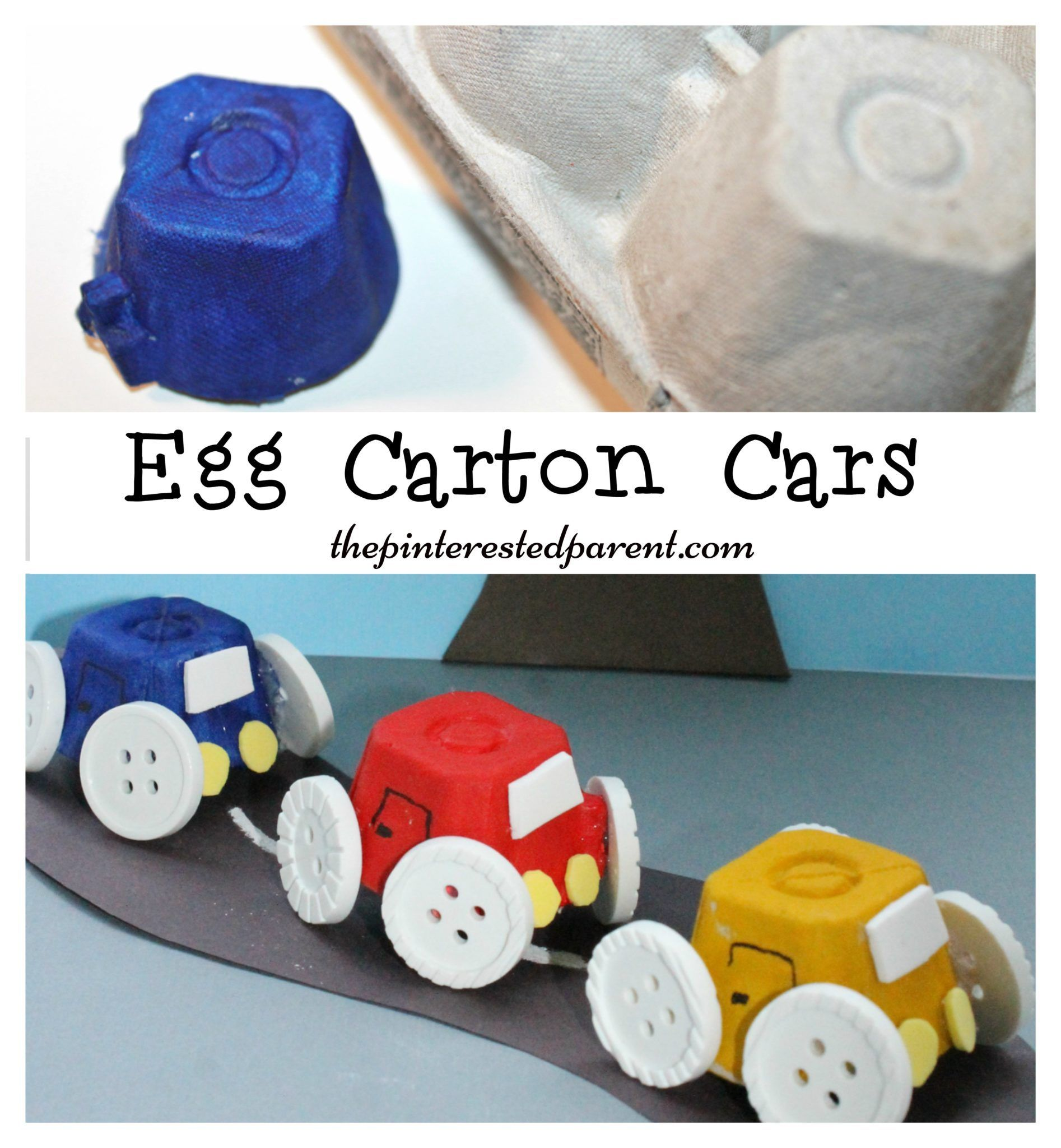 Car Craft For Kids Part - 30: Simple Egg Carton Car Craft For Kids. Easy Arts U0026 Crafts With Recyclables.