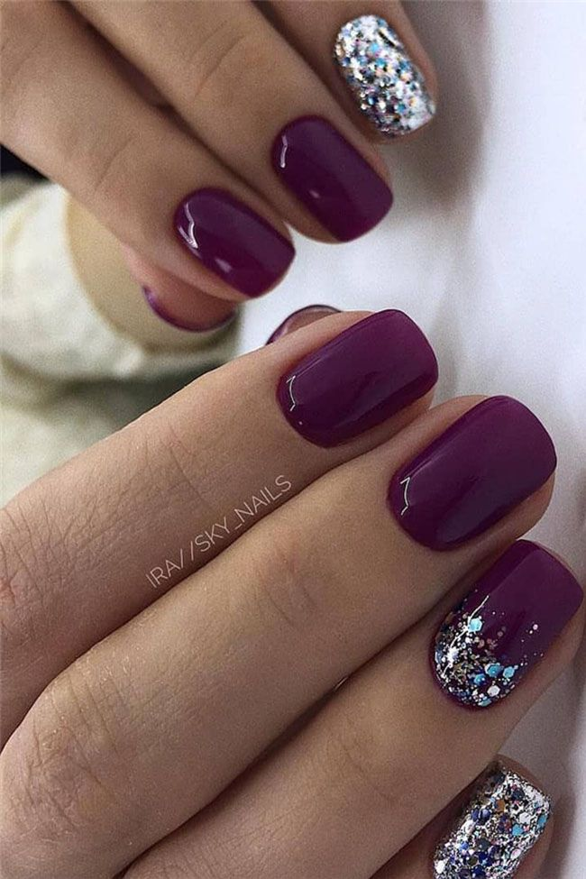 Purple Gel Nails Designs : purple, nails, designs, Pretty, Designs, Ideas, Designs,, Purple, Nails,, Colors, Winter
