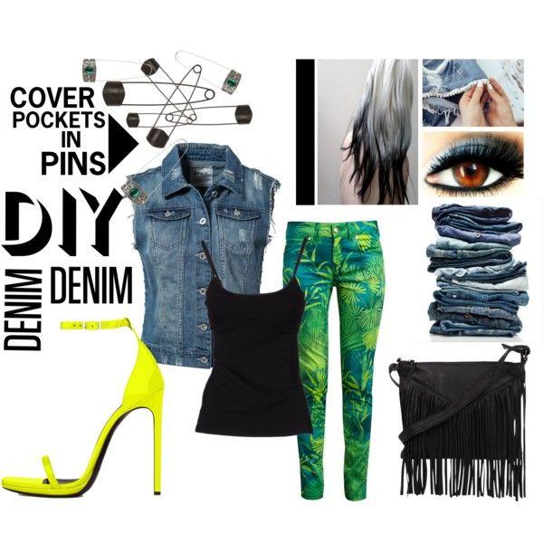 """DIY Denim"" by bettyboopbbw69 on Polyvore"