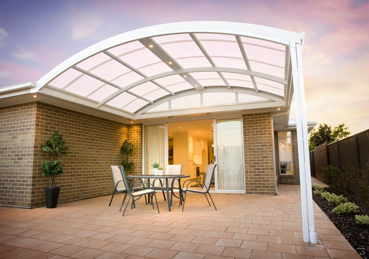 Curved Polycarbonate Roofing Systems Facades