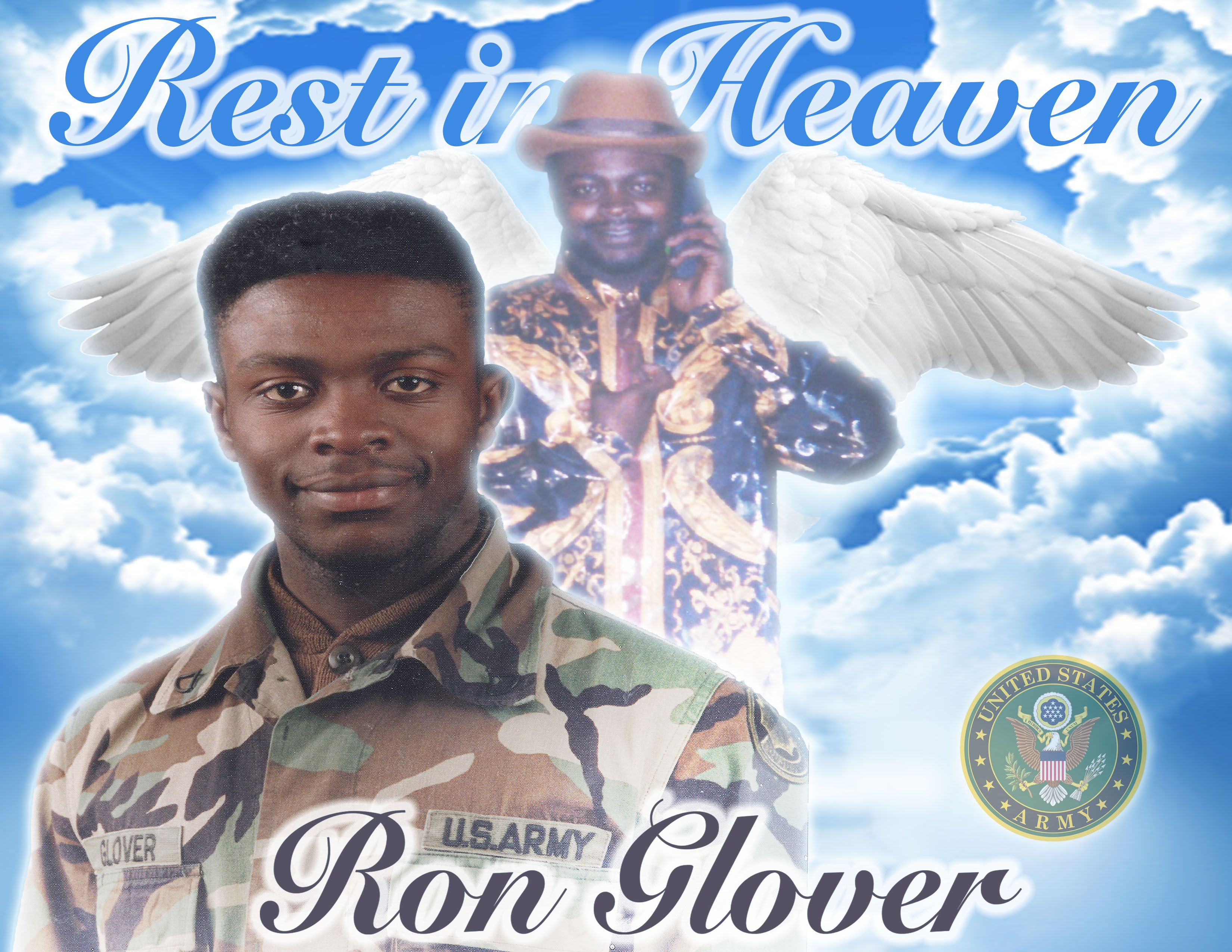 Rest In Heaven Ron Glover Photo Shirt Rest In Peace