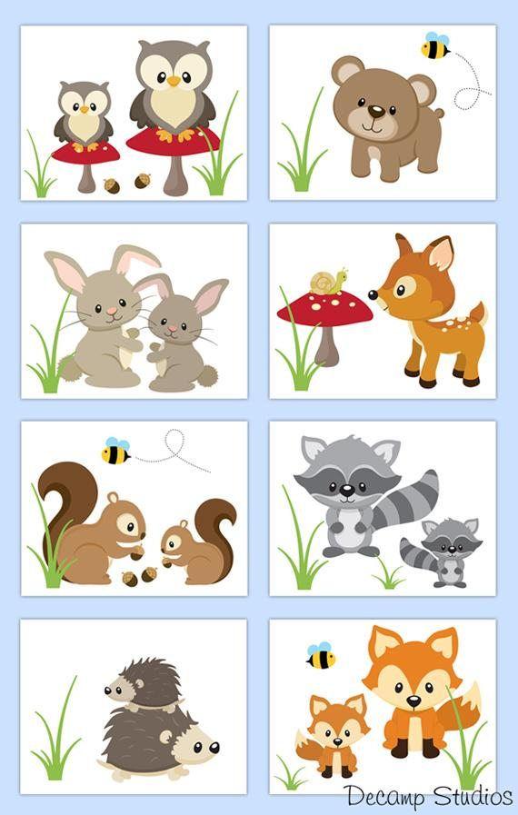 25+ Woodland Animal Clipart Borders